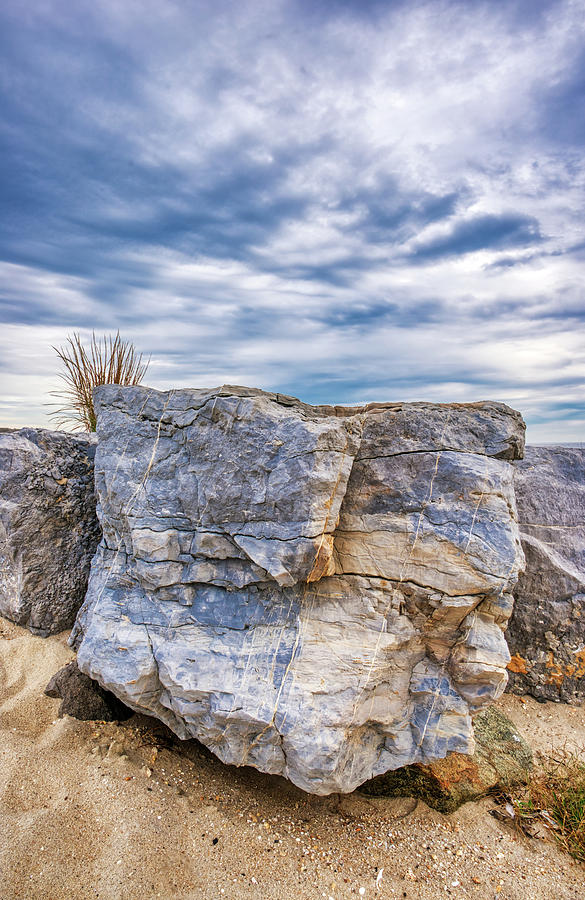 Colorful Beach Rock Barrier by Gary Slawsky