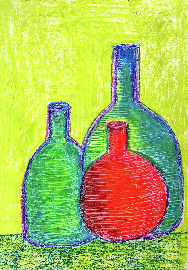 Colorful bottles by Asha Sudhaker Shenoy