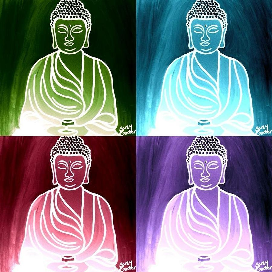 Colorful Buddhas by Suzy Mandel-Canter