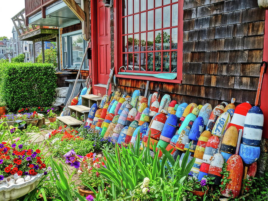 Colorful Buoys by Don Margulis