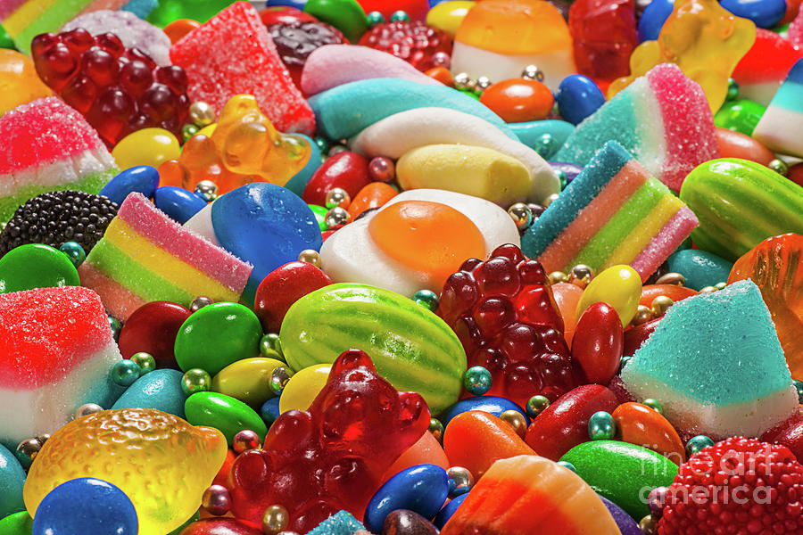Colorful Candy Photograph by Thecrimsonmonkey