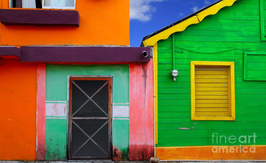 Country Photograph - Colorful Caribbean Houses Tropical by Lunamarina