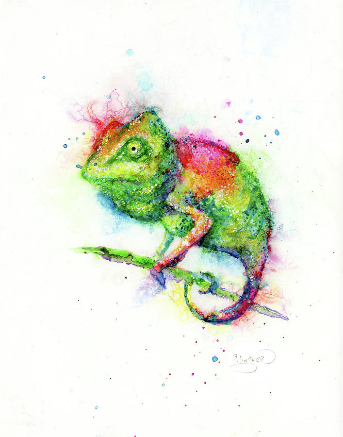 Colorful Chameleon  by Patricia Lintner