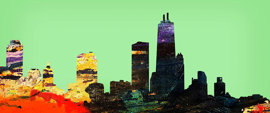 Colorful Chicago Skyline by Marilyn Hunt