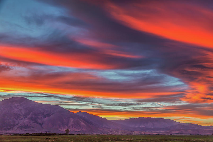 Colorful Clouds at Sunset by Marc Crumpler