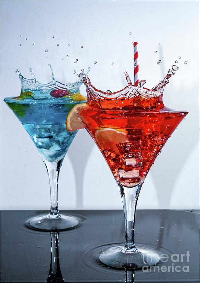 Colorful Cocktails In Martini Glasses Photograph by John Wright / 500px