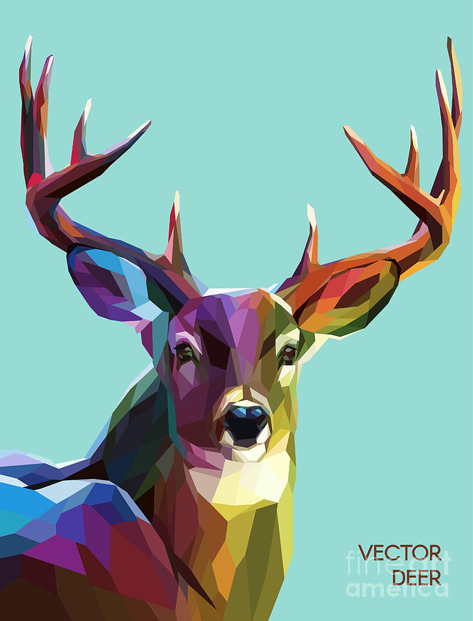 Colorful Deer Illustration Background Digital Art By Sovusha