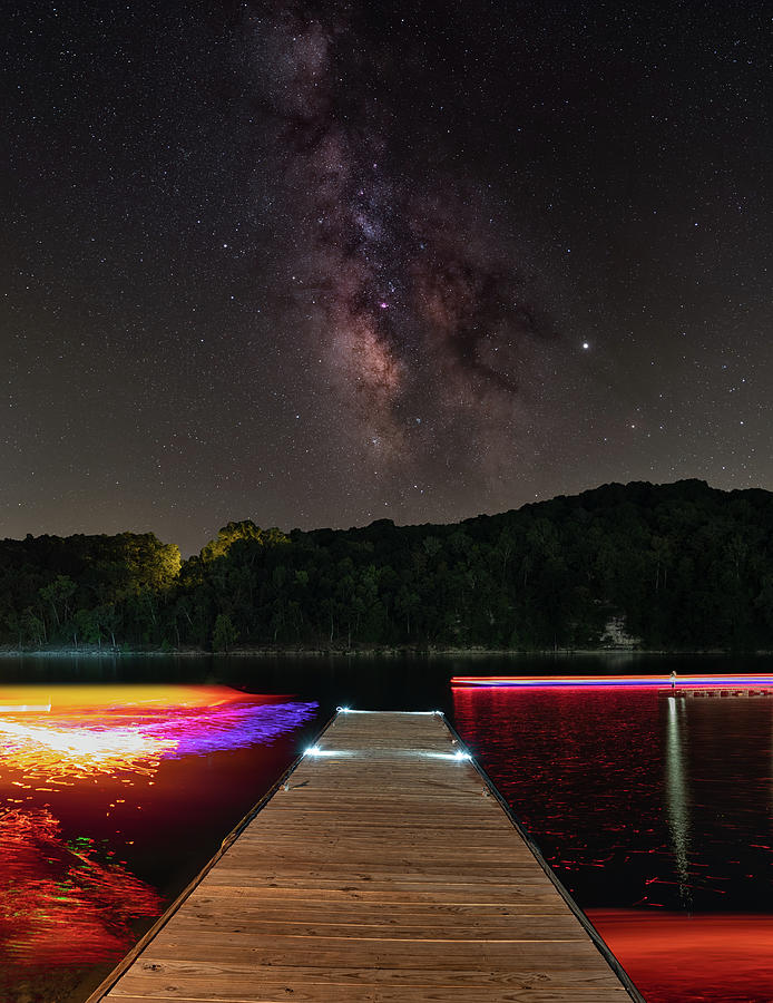 Colorful Dock at Cricket Creek by Hal Mitzenmacher