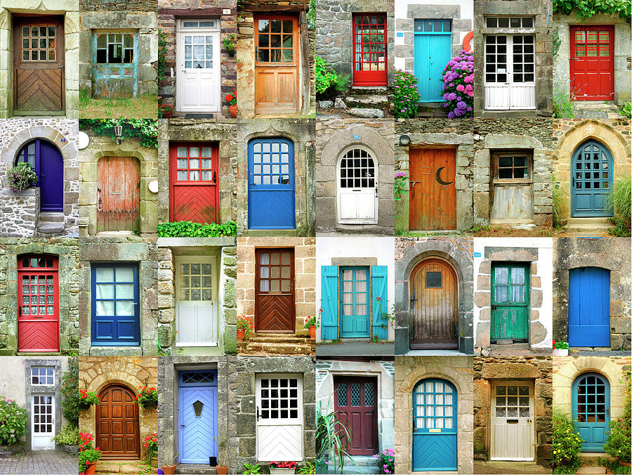 Colorful Doors In French Region Of Photograph by Maica