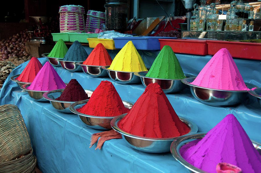 Colorful Dyes At Indian Market Photograph by Photo By Meredith Narrowe