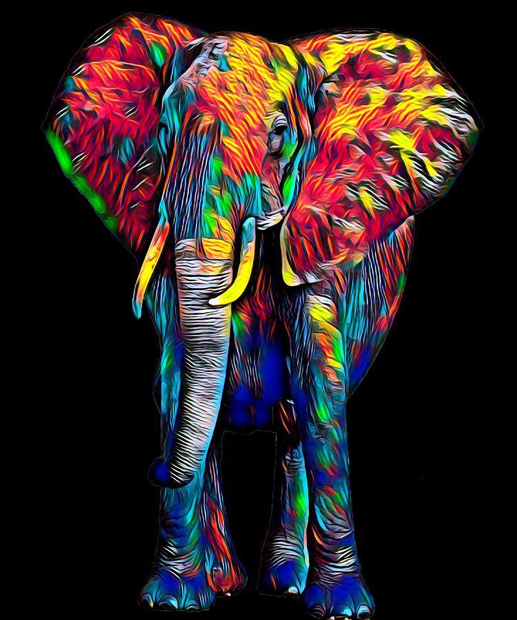 Colorful Elephant Symbolic Jungle Animal Antient Asia ...