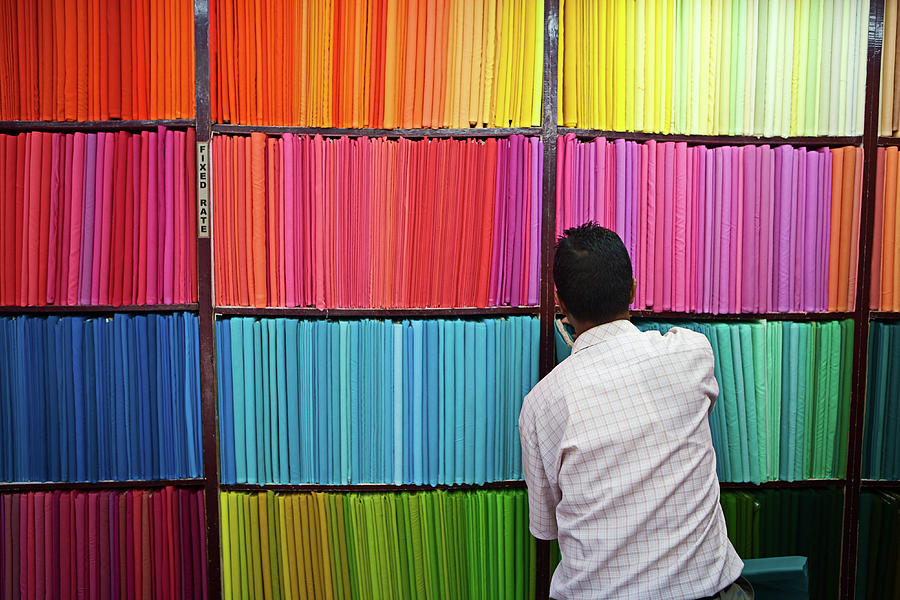 Colorful Fabrics Photograph by Hadynyah