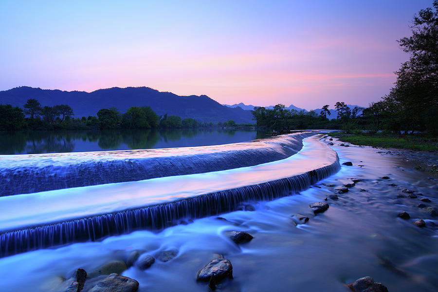Colorful Flowing Water And Mountain Photograph by Bihaibo