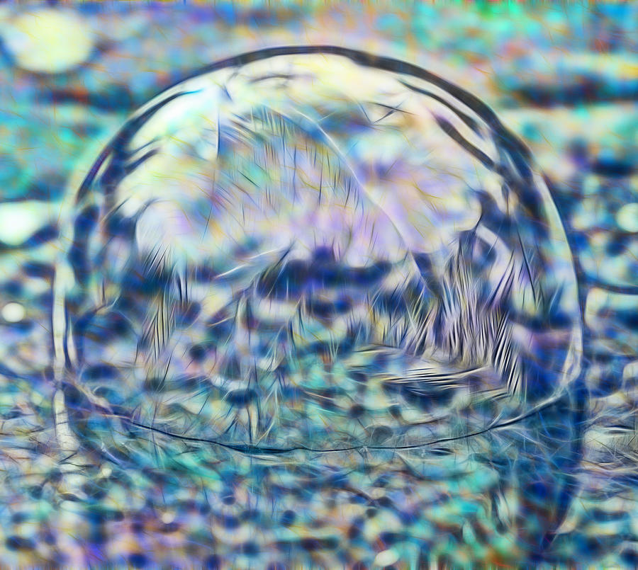 Colorful Frozen Bubble by Crystal Wightman