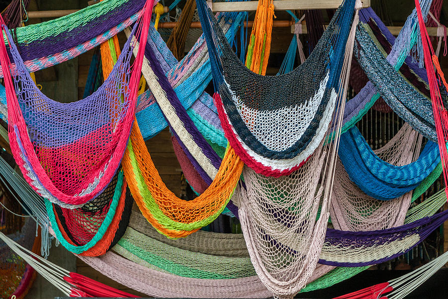 Colorful Hammocks Photograph by Philippe Marion