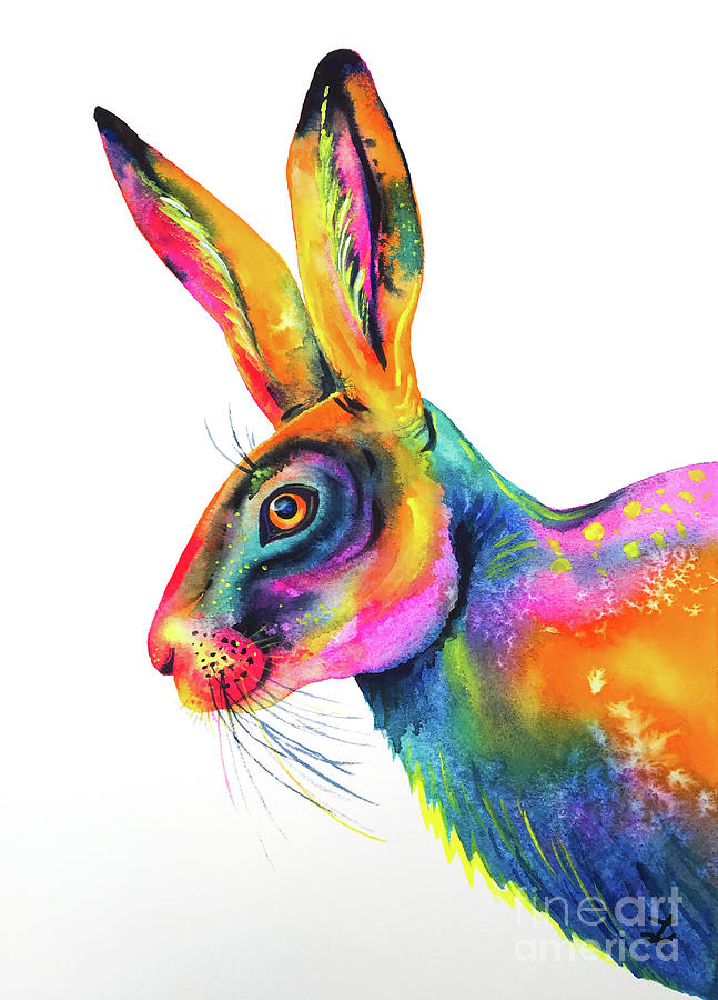Colorful Hare by Zaira Dzhaubaeva
