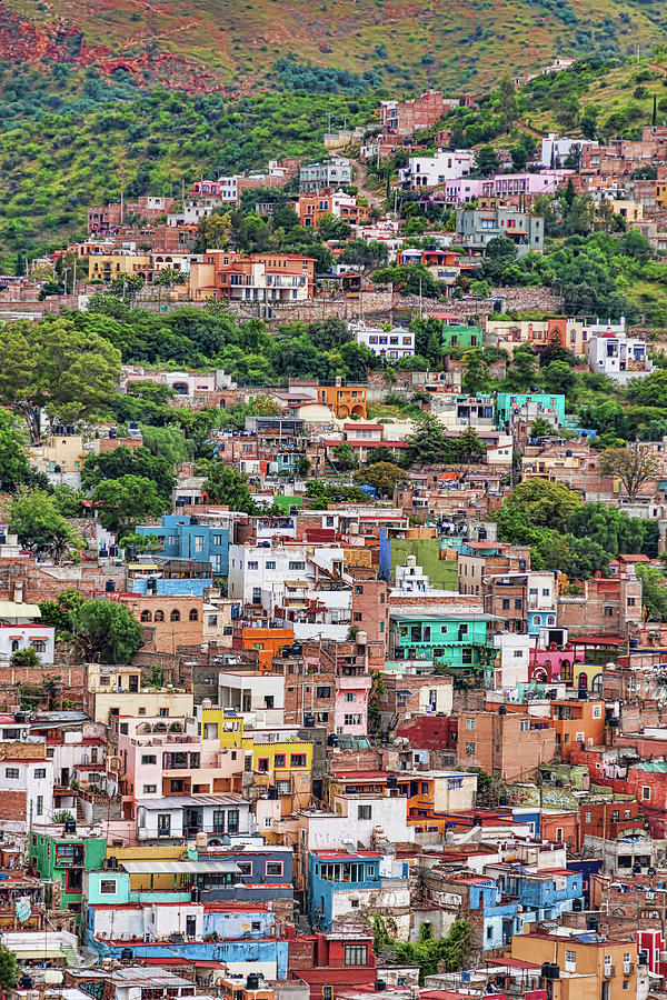 Colorful Photograph - Colorful hilltop houses in Guanajuato, Mexico by Tatiana Travelways