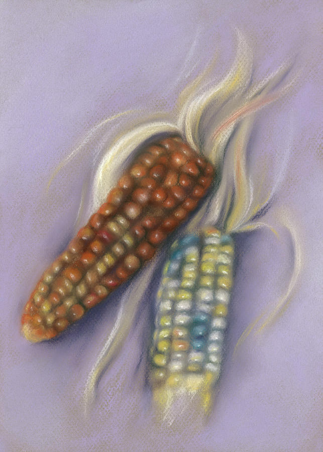 Colorful Indian Corn Ears by MM Anderson
