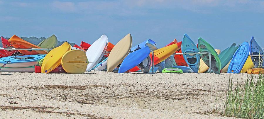 Colorful Kayaks by Karen Silvestri
