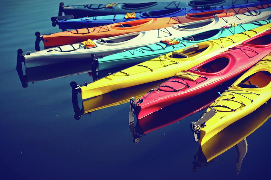 Colorful Kayaks Photograph by Kyle Igarashi