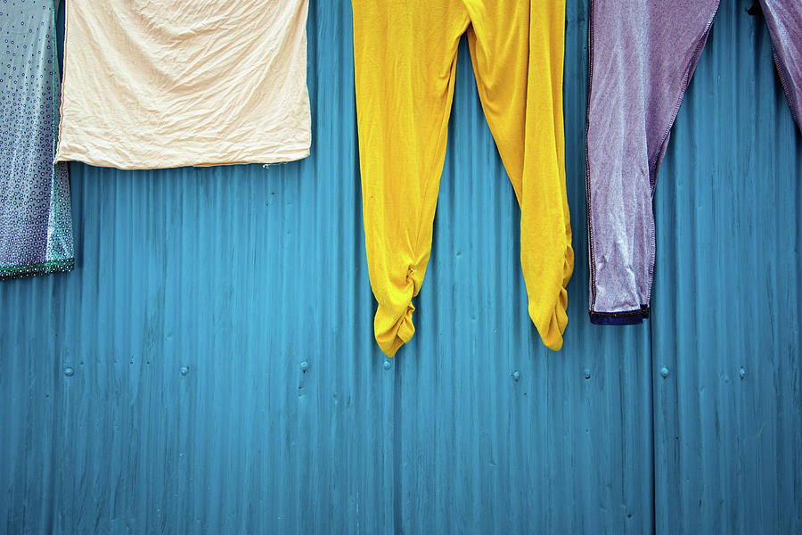 Still Life Photograph - Colorful Laundry by Nicole Young