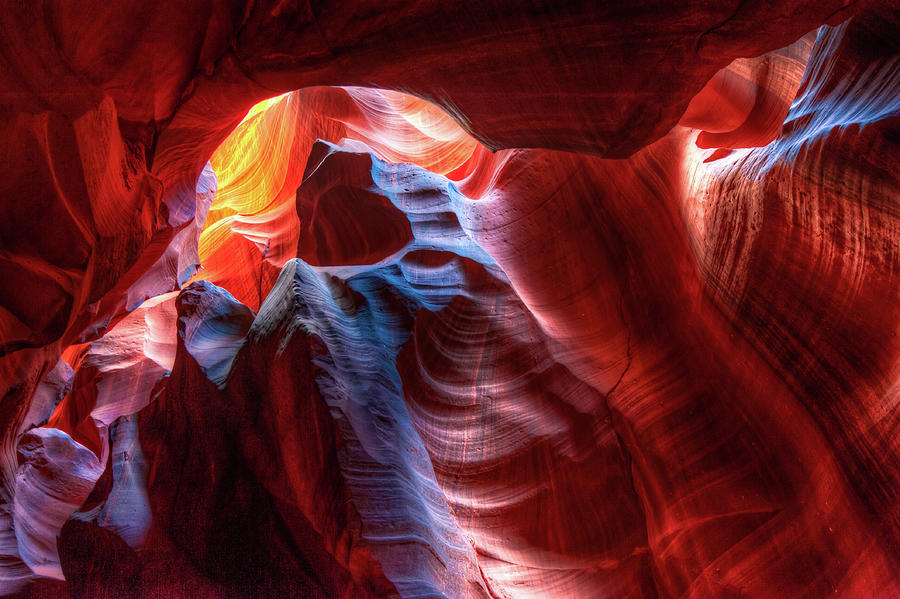 Colorful Layers of Antelope Canyon by Gregory Ballos
