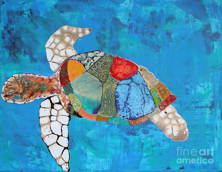 Colorful Life Sea Turtle by Kelly Gowan