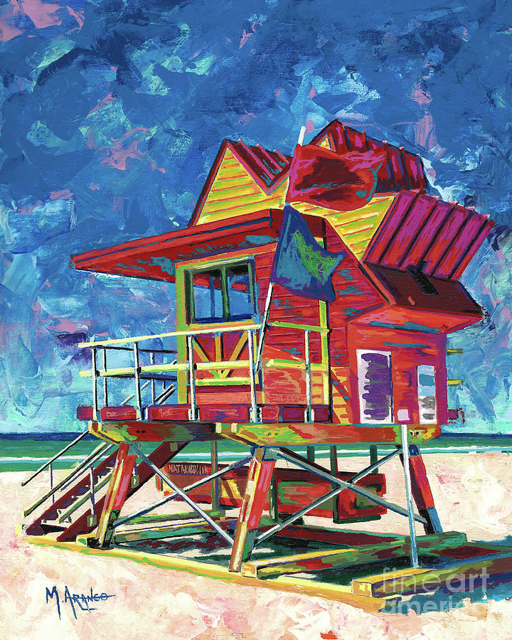 Colorful Lifeguard Station by Maria Arango