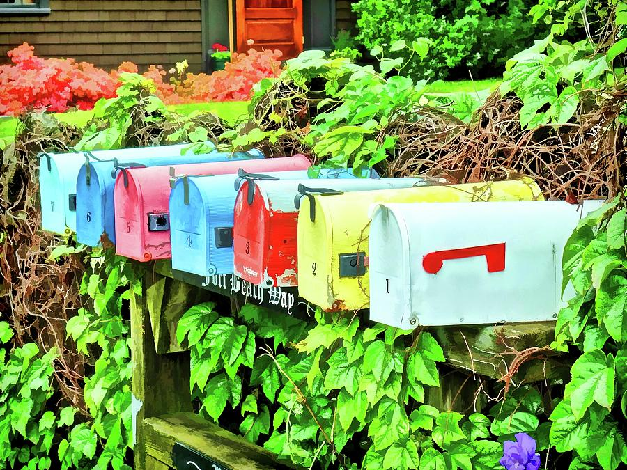 Colorful Mailboxes by Don Margulis