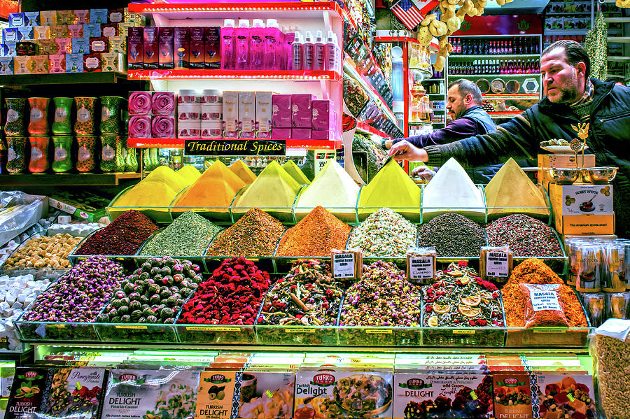 Colorful Market by Maria Coulson