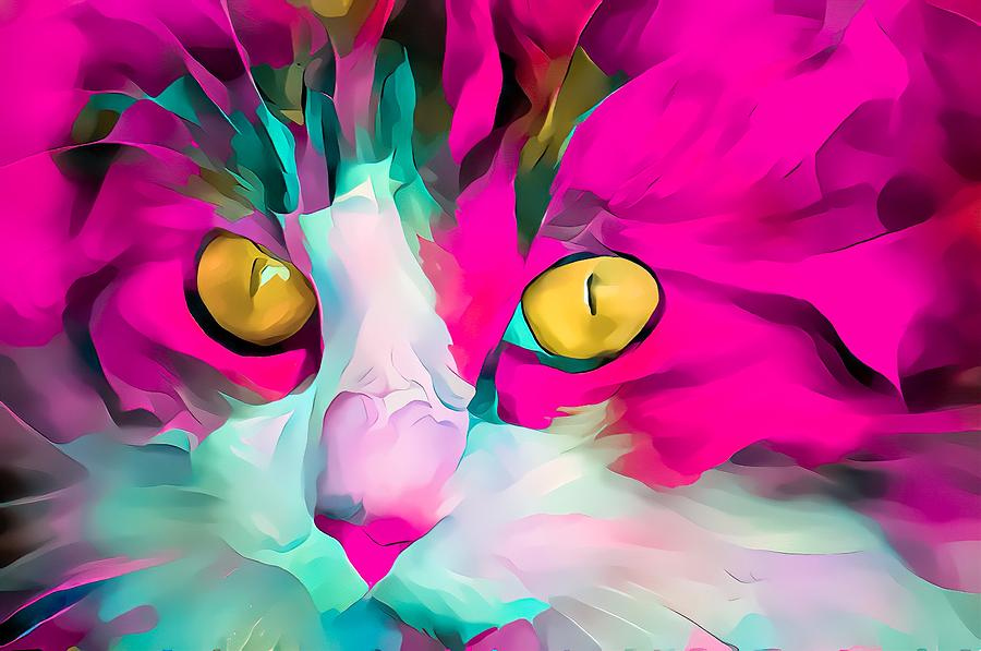 Colorful Masters Pink Glow Kitten by Don Northup