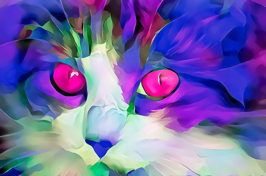 Colorful Masters Purple Glow Kitten by Don Northup
