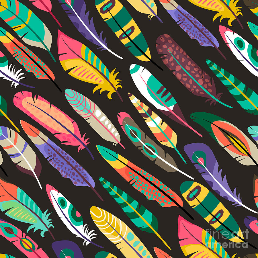 Clipart Digital Art - Colorful Oblique Seamless Pattern With by Mssa