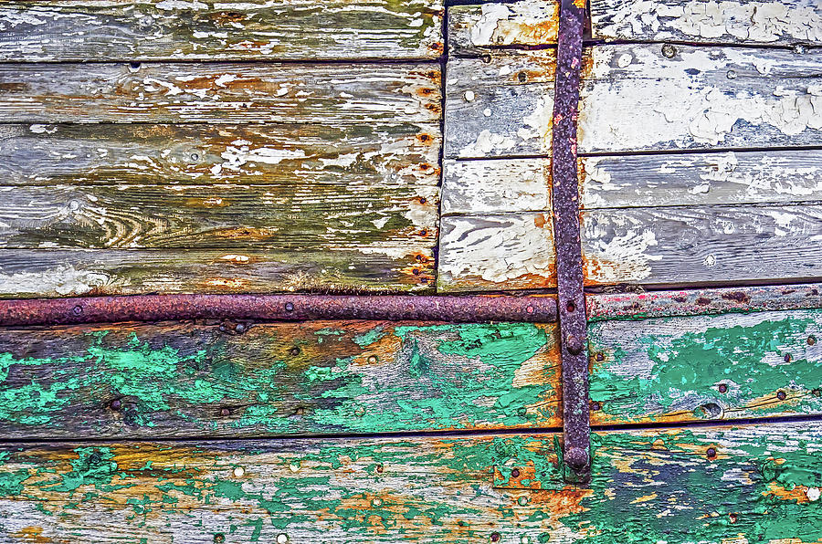 Colorful old wooden schip's hull by Frans Blok