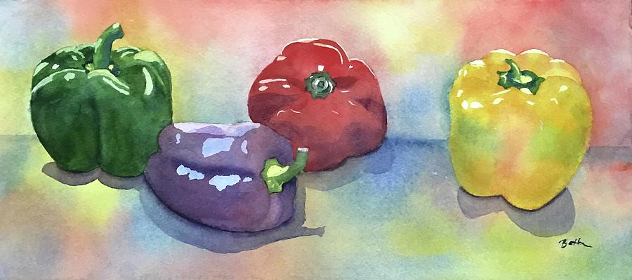 Colorful Peppers by Beth Fontenot