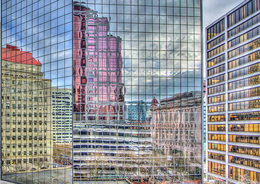 Colorful Portland Reflections by Jean Noren
