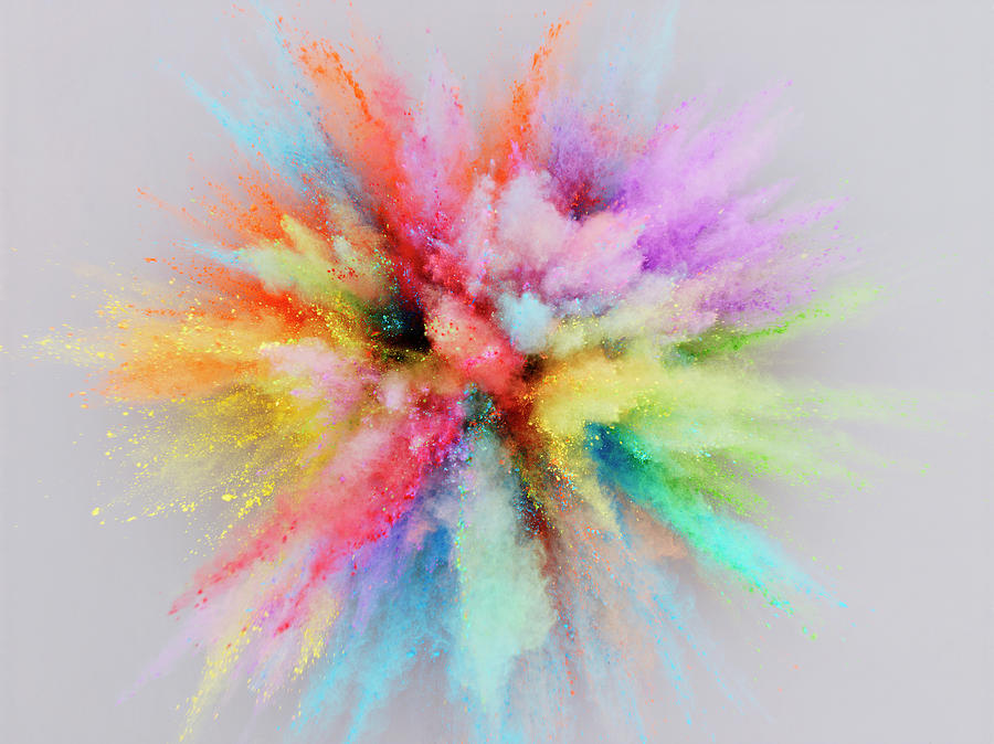 Colorful Powder Explosion Photograph by Stilllifephotographer