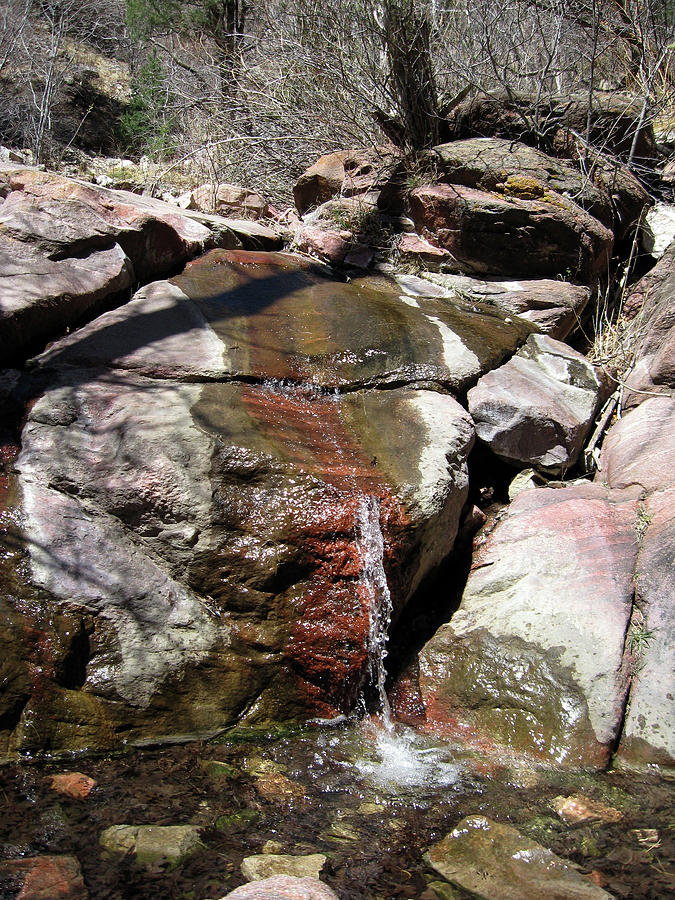 Colorful Short Waterfall in Williams Canyon by Julia L Wright