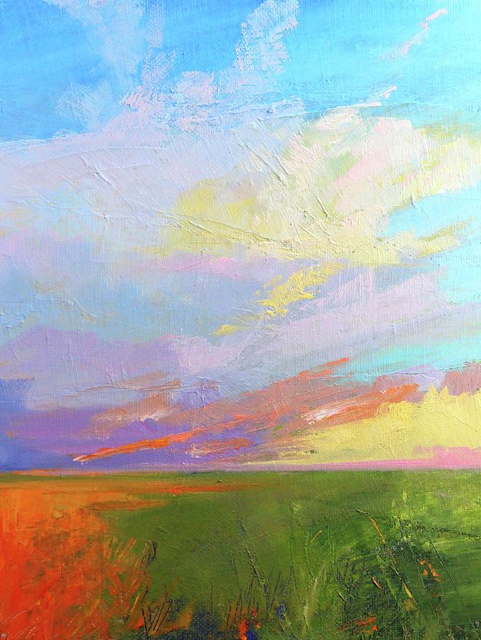 Oil Painting Painting - Colorful Sky by Nancy Merkle