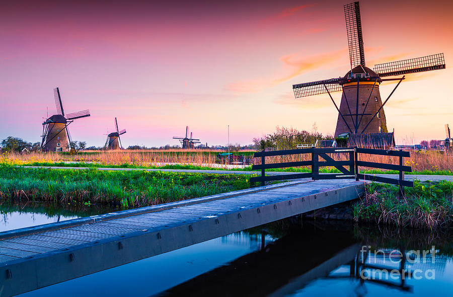 Sunrise Photograph - Colorful Spring Scene In The Famous by Andrew Mayovskyy