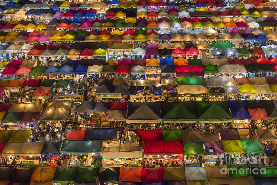Seller Photograph - Colorful Street Market From Above by Duke.of.arch