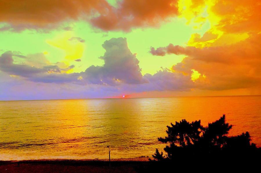 Colorful Sunset on the Black Sea by Henryk Gorecki