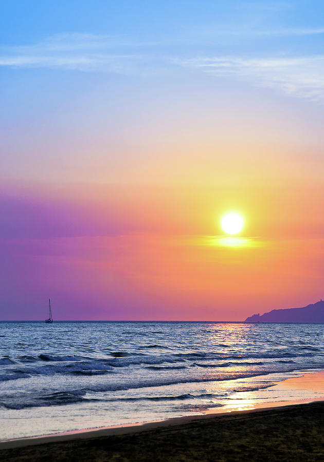 Colorful Sunset Over The Sea Photograph by Scacciamosche