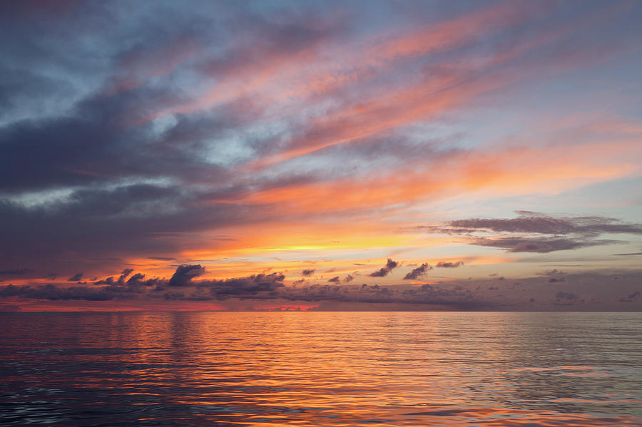 Colorful Sunset Over The  South Pacific Photograph by Jeff Hunter