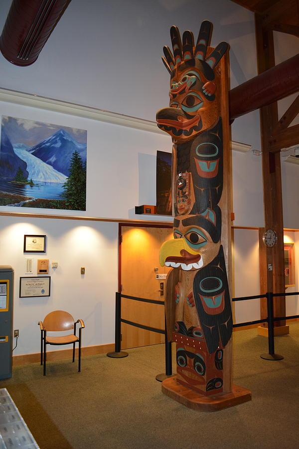 Alaska Photograph - Colorful Totem Pole by Joe Smiga