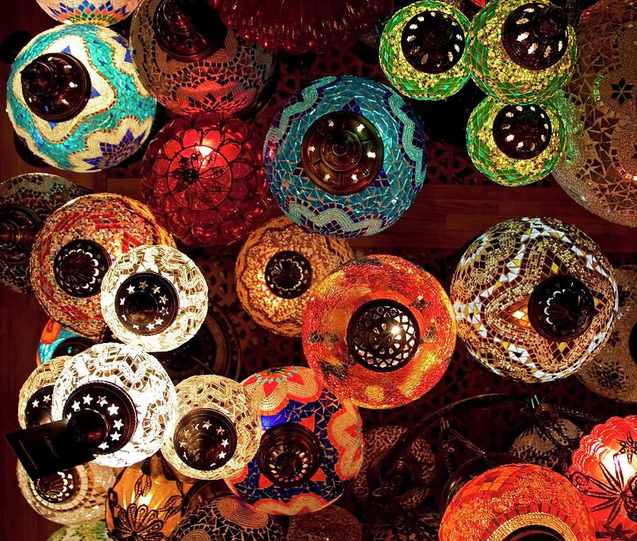 Colorful Turkish Lanterns From The Photograph by Wldavies