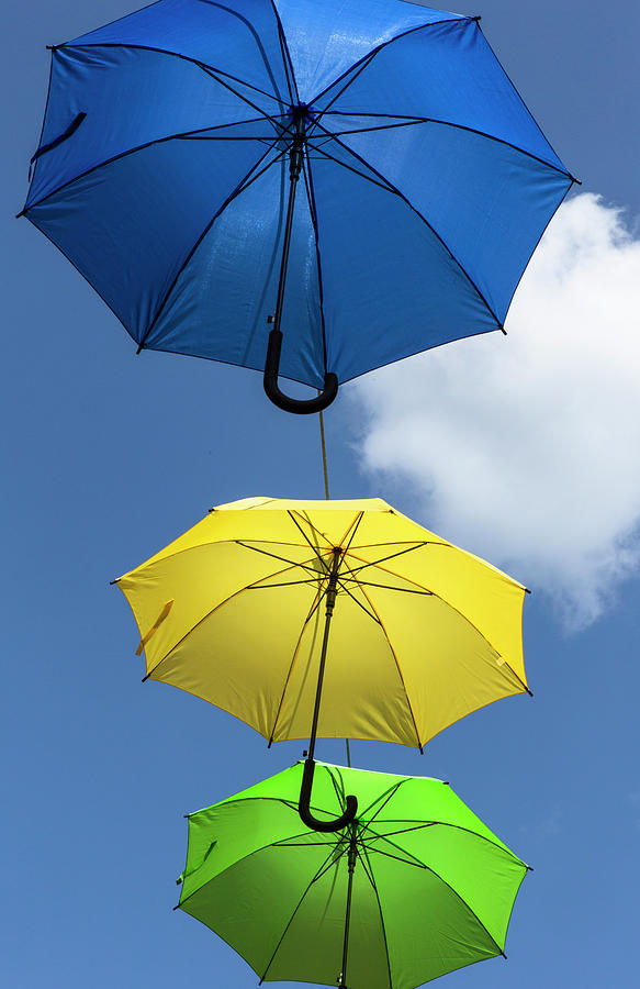 Colorful Umbrellas by Iris Richardson