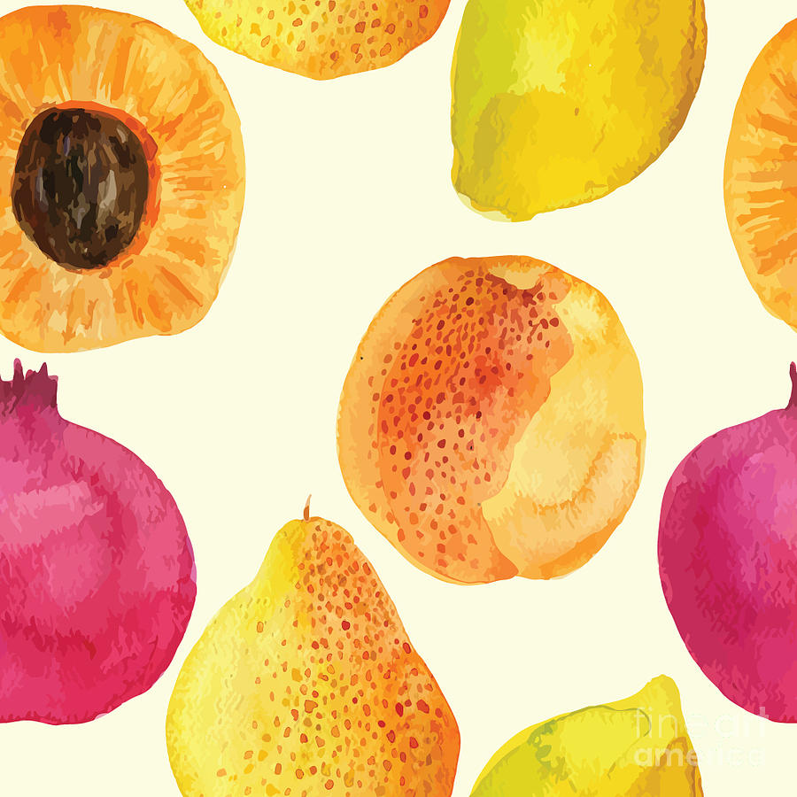Beauty Digital Art - Colorful  Watercolor Vector Fresh by Alexandra Dzh