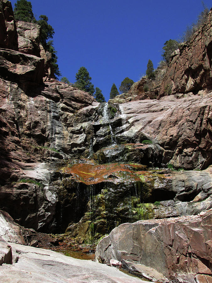 Colorful Waterfall in Williams Canyon by Julia L Wright