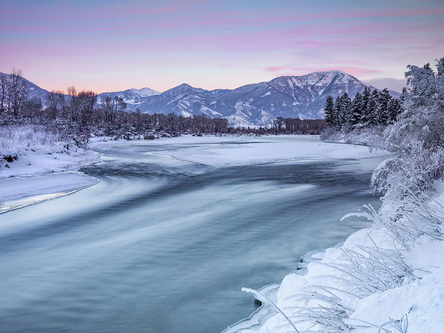 Nature Photograph - Colorful Winter Morning by Leland D Howard